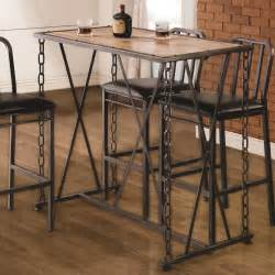 Industrial Bar Table Buy 10069 Rustic Industrial Chain Link Bar Table By Coaster From Www Mmfurniture Sku 100692