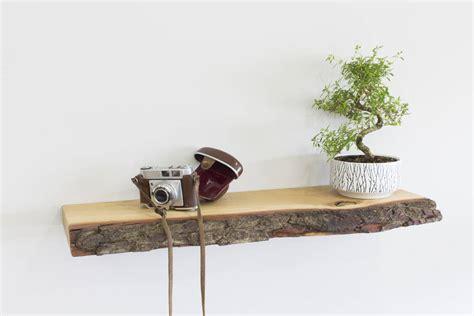 1 Set Floating Shelves 100 90 80 70cm 4buah 40cm Le Berkualitas bark edge solid oak floating shelf by bespoak interiors