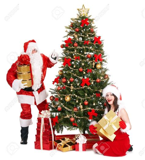 pictures of crismas tree and centaclaus santa claus and trees happy holidays