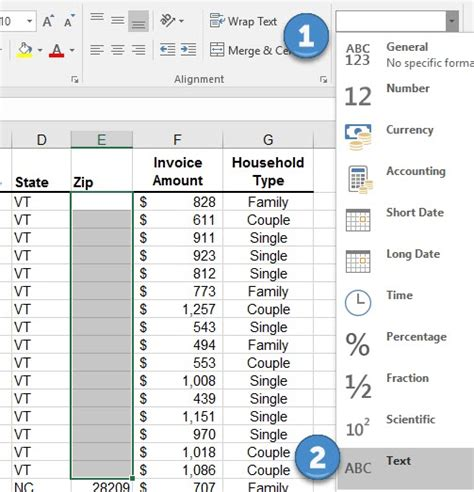 excel format zip code leading zero use the text function in excel to add leading zeros to zip