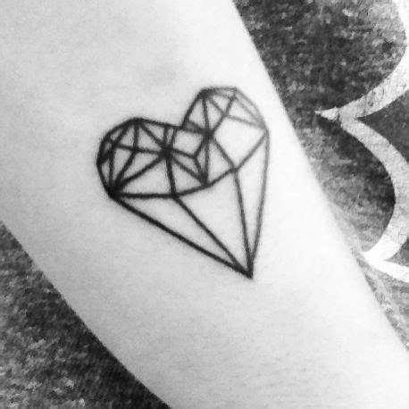 tattoo diamond heart diamond heart tattoo tattoos pinterest perspective