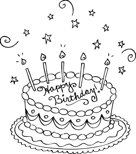 Free Printable Birthday Cake Coloring Pages For Kids Birthday Cake Colouring Pages