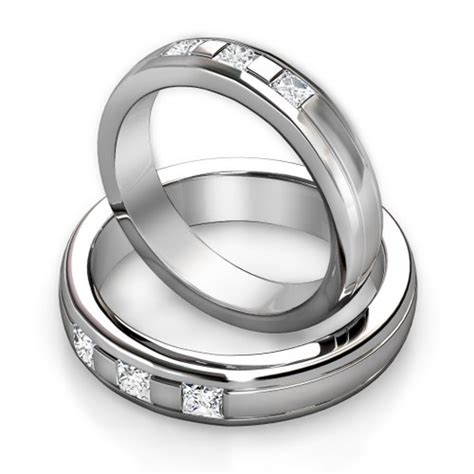 wedding ring sets his and hers cheap simple unique