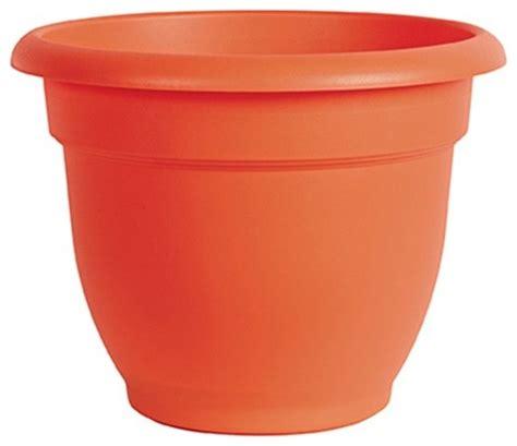 Orange Planters by Planter Orange 10 Quot Traditional Outdoor Pots