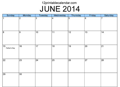 June 2014 Calendar 6 Best Images Of June 2014 Calendar Printable Pdf June