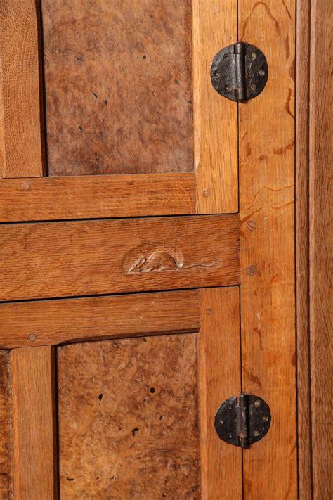 set of original vintage quot mouseman quot door and bed frames for