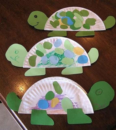 Turtle Paper Craft - turtle crafts animals bugs