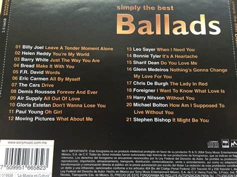 best ballads cd simply the best ballads varios 201 xitos remate