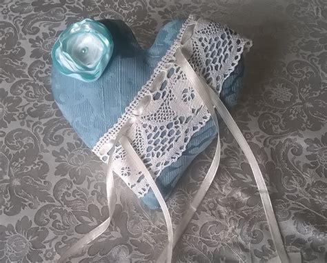 cuscinetto porta fedi matrimonio cuscino portafedi a cuore cuscinetto porta fedi azzurro