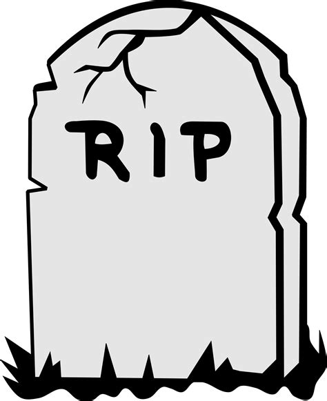 Tombstone Clipart Free best free tombstone rip clipart transparent background library