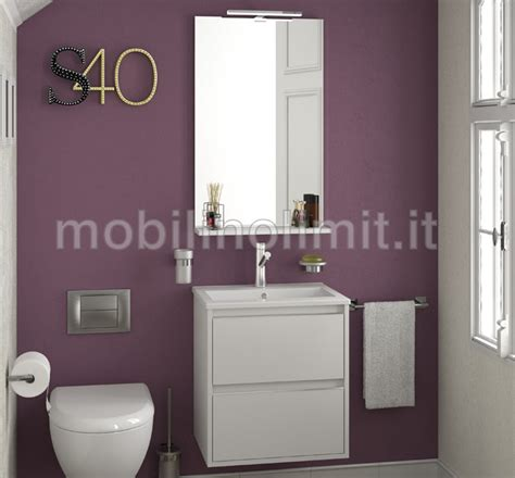 mobili bagno salvaspazio mobile bagno sospeso salvaspazio s40 bianco l 50