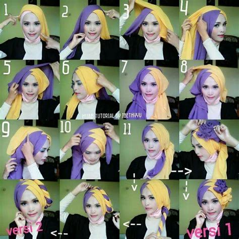 tutorial hijab paris turban style 1437 best images about hijab tutorial on pinterest