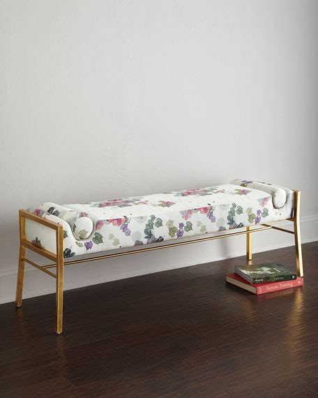 cynthia rowley bench cynthia rowley for hooker furniture fleur de glee bench