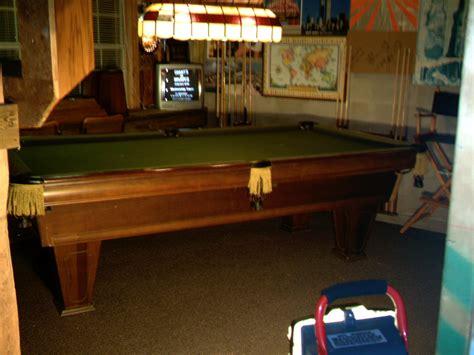 brunswick heirloom pool table used pool tables