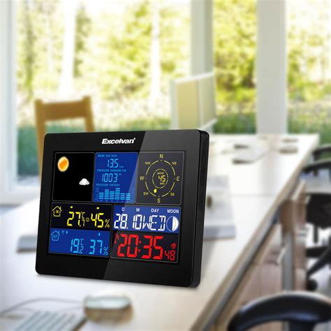 home digital wireless weather station with wind speed