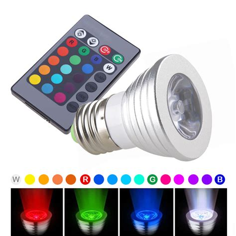 led magic color 16 color magic changing e27 3w rgb led light bulb l ir