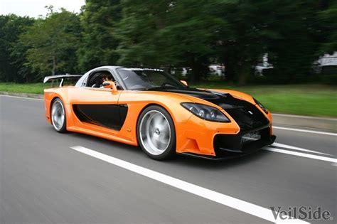 mazda rx7 orange and black veilside rx7 fortune fast rx7
