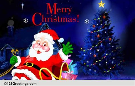 merry christmas  santa claus ecards greeting cards
