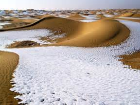 snowfall in desert the world geography beautiful unusual desert images