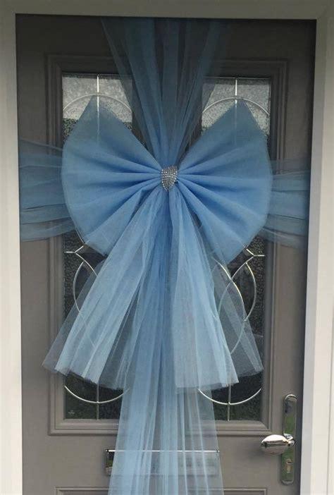baby baby blue door bow fun party supplies