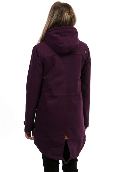 Jaket Volcom Original 27 volcom walk on by parka jacket plum buy at skatedeluxe