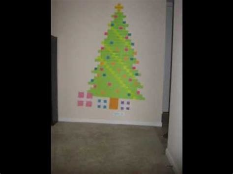post it christmas tree post it tree animation
