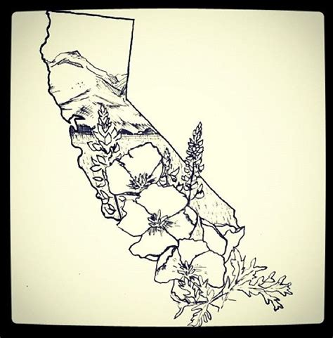 california outline tattoo designs neat california outline tattoos