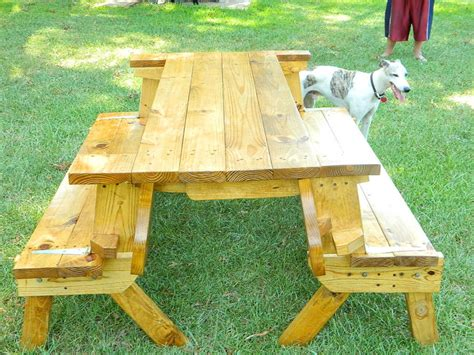 picnic table folds into bench access folding picnic table plans build by own