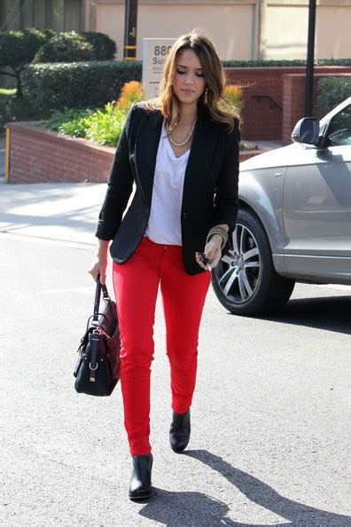 Get Albas Comic Con Denim Look glamspiration how to wear any shade of colored denim like