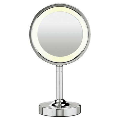 lighted makeup mirror with magnification conair 174 sided lighted makeup mirror with 5x
