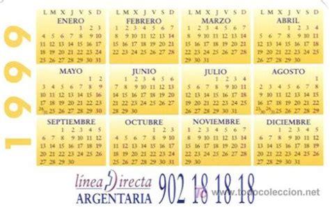 Calendario De 1999 Calendario De Argentaria Caja Postal A 241 O 1999 Comprar