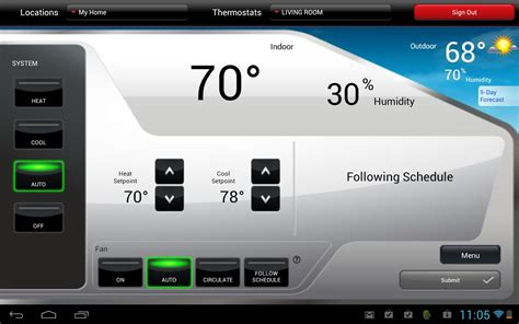 honeywell total connect comfort thermostat total connect comfort android apps on google play