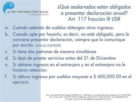 tratamiento fiscal de sueldos y salarios 2016 pago provisional de isr sueldos y salarios pago
