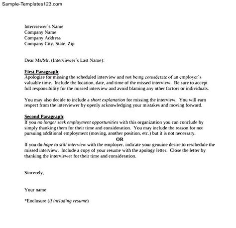 Apology Letter For Missing Exle Sle Letter Of Apology For Missed Sle Templates