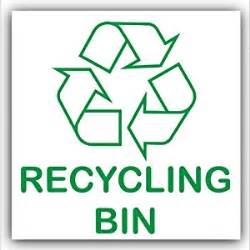 Adhesive sticker recycle logo sign environment label kitchen amp dining