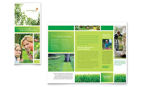 tri fold brochure template publisher lawn mowing service brochure template word publisher