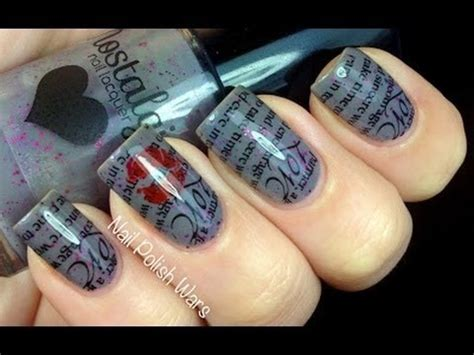 nail art kit tutorial love letter konad nail art tutorial sting nail