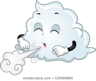 cloud with blowing wind mascot character stock photo cloud blowing wind images stock photos vectors