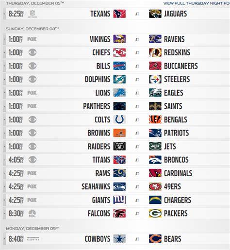 golds the fan schedule 2013 nfl regular season schedule released