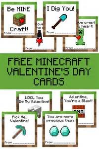 free printable minecraft s day cards a grande