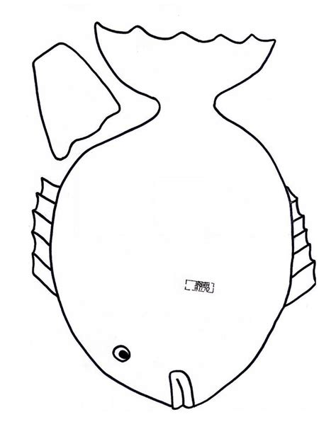 fish template cut out coloring home