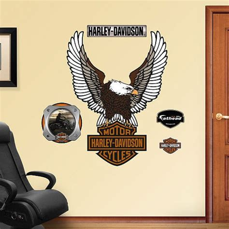 harley davidson wall stickers harley davidson eagle logo fathead wall accent decals