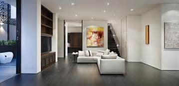attractive How To Decorate Small Living Room #2: living-room-modern-bedroom-design-with-l-shaped-chaise-lounge-sofa-and-tv-cabinet-combine-with-dark-flooring-and-white-wall-with-straight-stair-marvelous-living-room-chaise-lounges.jpg