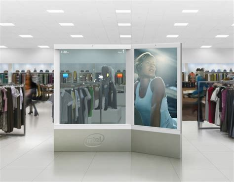 Launch Of Shop Vogue Interactive Advertisement Site by Intel S Touch Screen Ar Packed Digital Ad Display Almost
