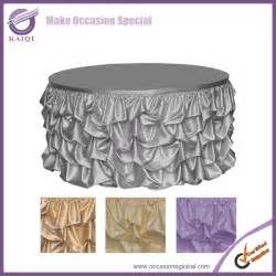 Wedding Chair Cover Designs 776 Elegant Style Ruffled Design Wedding Table Skirting