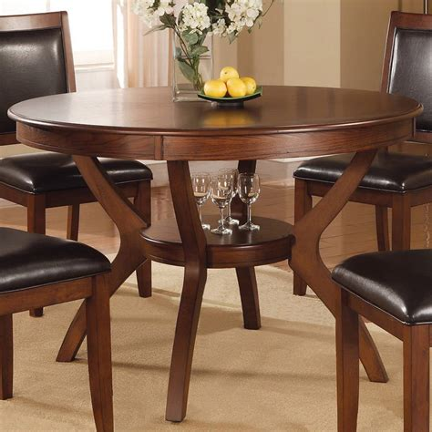 coaster fine furniture nelms wood  dining table
