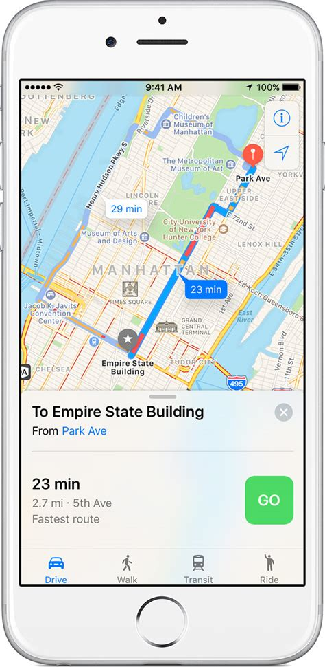 get directions maps use maps on your iphone or ipod touch apple support
