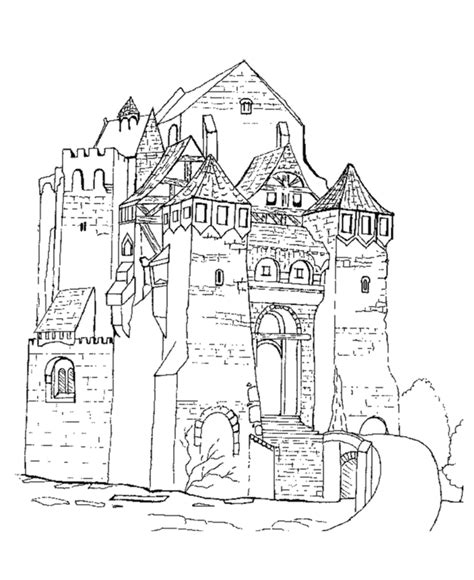 castle moat coloring page bluebonkers medieval castles and churches coloring