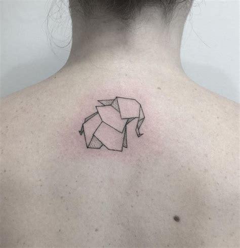 origami elephant tattoo origami elephant inkstylemag