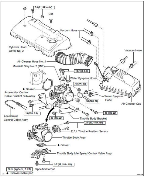 toyota corolla repair manual throttle assy engine